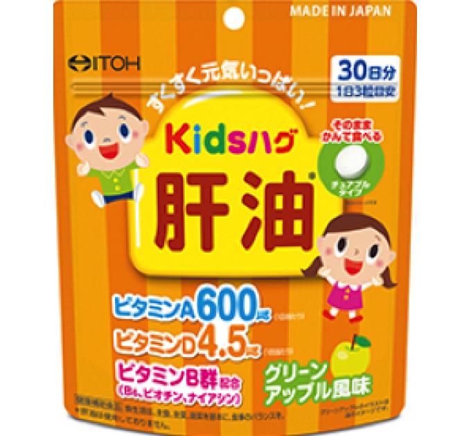 ITOH Витамины для детей с Маслом Печени со вкусом яблока (курс на 30 дней)