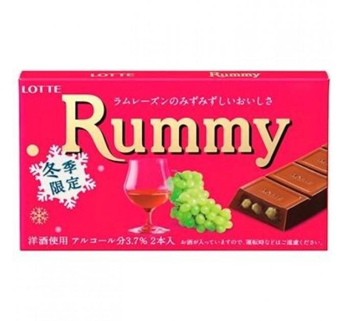Японский шоколад Lotte Rummy с ромом и изюмом 50г