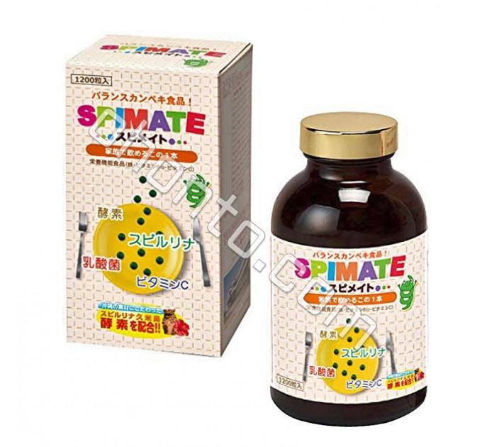 Японская спирулина для детей и взрослых Algae Spirulina Spimate для иммунитета, работы кишечника и укрепления здоровья