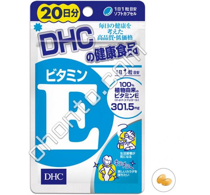 DHC Натуральный витамин Е для красоты и молодости, на 20 дней