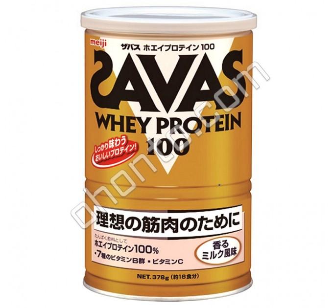Meiji Whey Protein 100 Savas Сывороточный протеин с молочным вкусом, 18 порций
