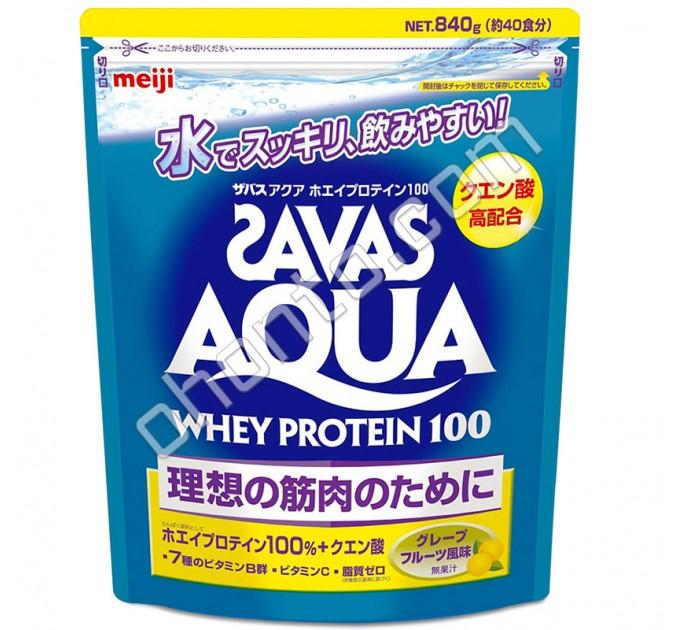 Meiji Aqua Whey Protein 100 Savas Сывороточный протеин с ароматом грейпфрута, 40 порций