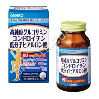 ORIHIRO Глюкозамин хондроитин и гиалуроновая кислота 81г (270таб)