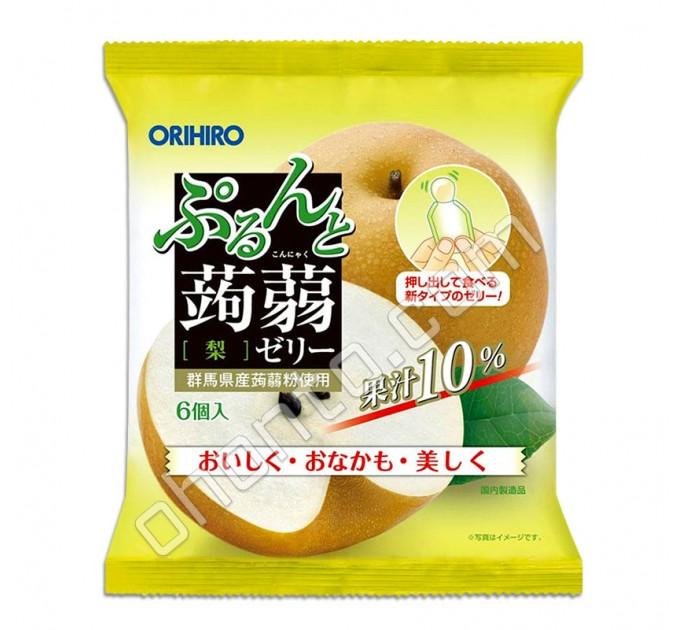 """Orihiro Фруктовое порционное желе из конняку """"Груша"""", насыщение без вреда для фигуры."""
