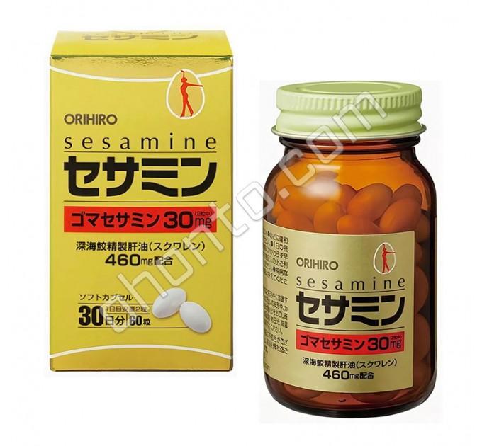 Orihiro Sesamine из масла кунжута со скваленом для иммунитета, печени, очищения и омоложения