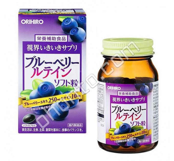 Orihiro Витаминный комплекс с экстрактом Черники для здоровья глаз, на 30 дней