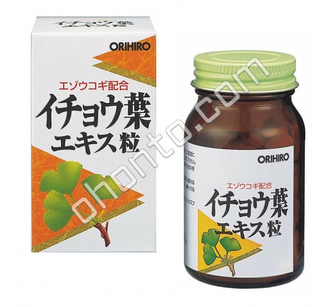 Orihiro экстракт Гинкго билоба для работы мозга, памяти, ума, иммунитета