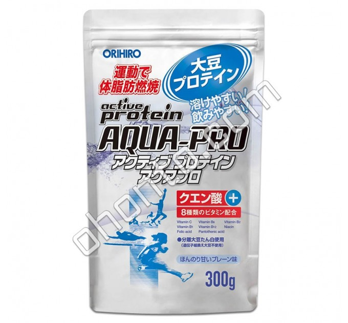 Orihiro Aqua-PRO Водорастворимый протеин + 8 витаминов, 300 г
