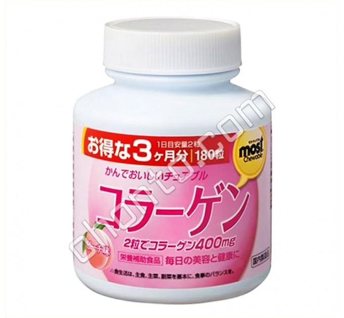 Orihiro MOST Коллаген со вкусом персика для кожи и суставов, на 90 дней