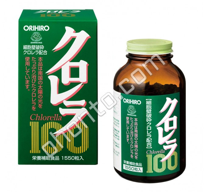 Orihiro Chlorella 100 диетический очищающий комплекс с экстрактом Хлореллы, на 30-50 дней
