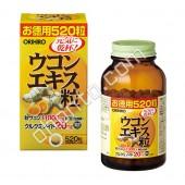 Orihiro Экстракт Куркумы, 520 таблеток, 130 гр