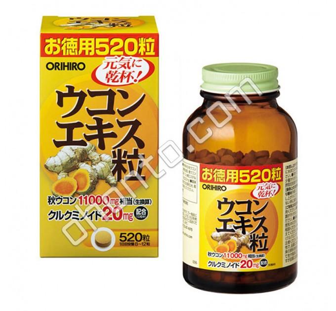 Orihiro экстракт Куркумы, гепатопротектор, антиоксидант, на 60 дней