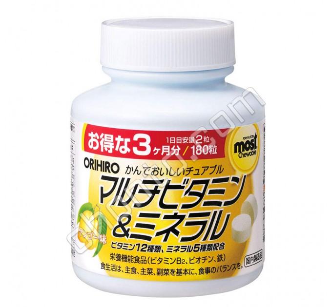 Orihiro MOST Мультивитамины и минералы со вкусом манго, на 90 дней