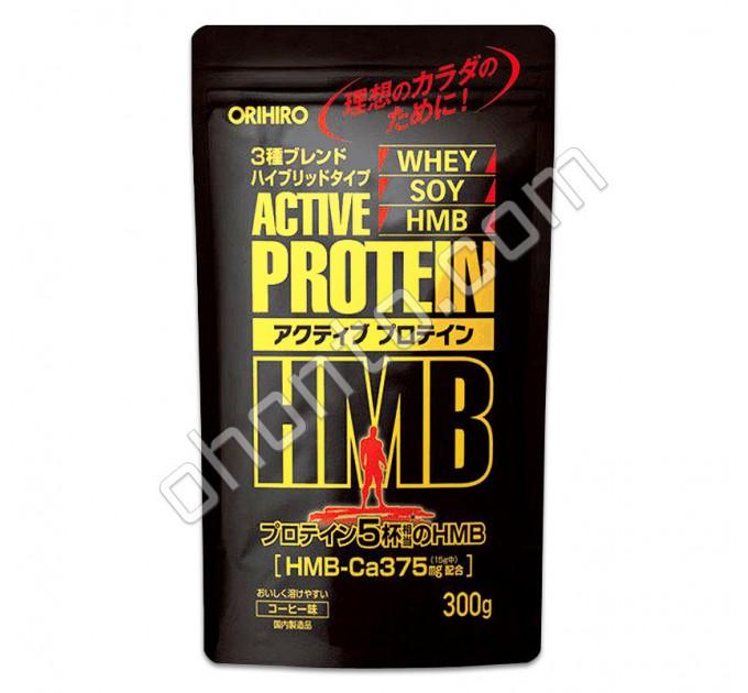 Orihiro Соевый протеин с HMB для роста мышц и силы, кофейный вкус, 300 г.