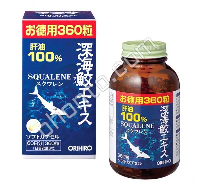 Orihiro Сквален из печени акулы для иммунитета, омоложения, профилактики онкологии, болезней сердца