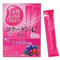 Otsuka Желе с содержанием коллагена и витамина С, (лесные ягоды 31 стик)
