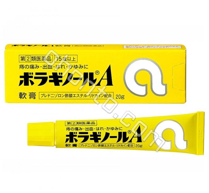 Крем на масляной основе от геморроя и трещин ануса, Borraginol A, Takeda