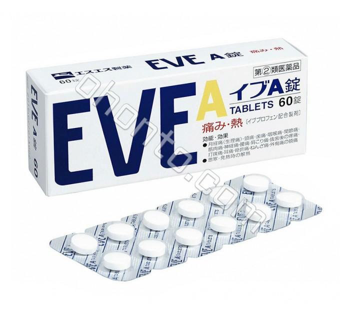 Болеутоляющее и жаропонижающее средство Eve-А для лечения различных воспалительных процессов