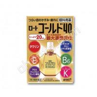 Rohto Gold 40 возрастные витаминизированные глазные капли с витаминами Е, B6 и таурином  40 мл