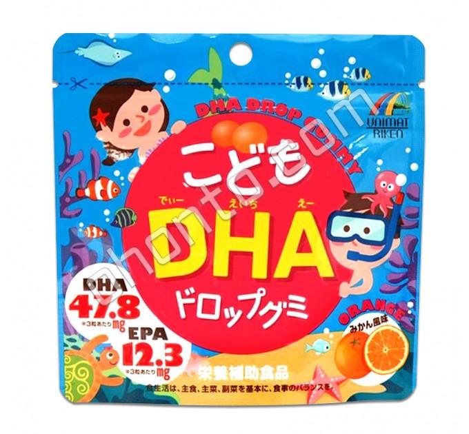 Unimat Riken Жирные кислоты Омега-3 для детей в виде жевательных конфет с апельсиновым вкусом