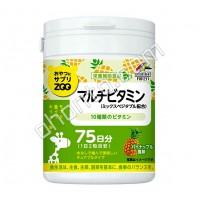 UNIMAT RIKEN ZOO Мультивитамины на 75 дней (150)
