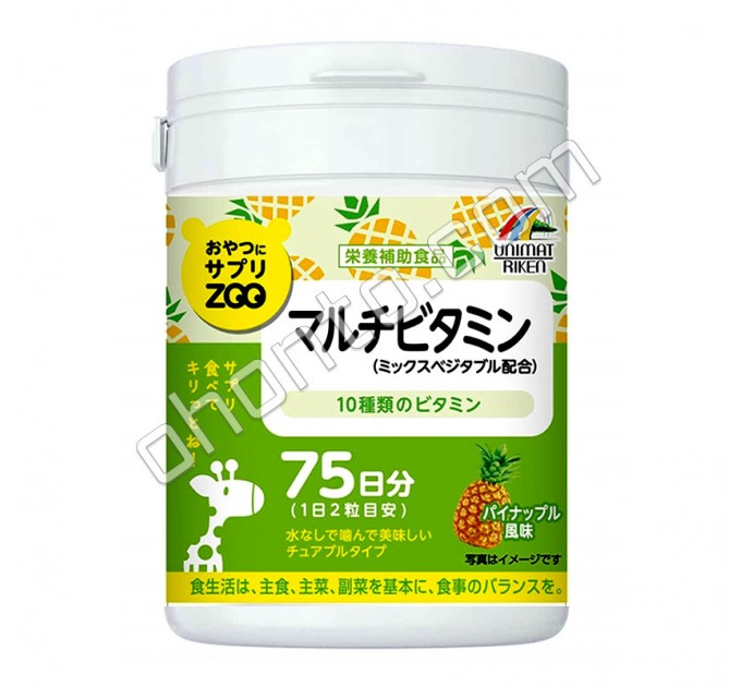 Unimat Riken Zoo Мультивитамины для улучшения качества жизни и сопротивления болезням.